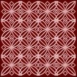 Teste padrão vermelho e cor-de-rosa Ilustração Stock