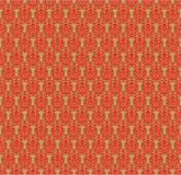 Teste padrão vermelho e verde do damasco Imagem de Stock Royalty Free
