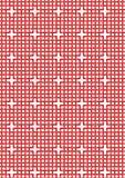 Teste padrão vermelho entrelaçado Imagens de Stock Royalty Free