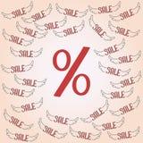 teste padrão vermelho grande do disconto da porcentagem Imagens de Stock