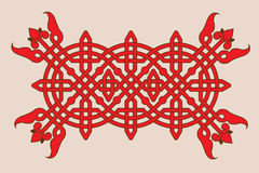 Teste padrão vermelho linear com entrelaçamento Fotografia de Stock