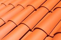 Teste padrão vermelho natural da telha de telhado Fotografia de Stock Royalty Free