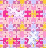 Teste padrão wall-to-wall sem emenda do enigma do autismo Foto de Stock Royalty Free