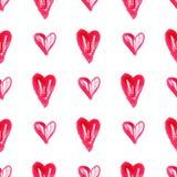 Teste padrão watercolor2 do coração Imagem de Stock Royalty Free