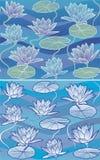 Teste padrão Waterlily do vetor Ilustração do Vetor