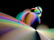 Teste padr?o colorido abstrato do fractal foto de stock