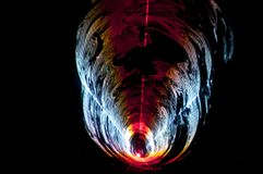 Teste padr?o colorido do fundo do laser do feixe com linhas e listras fotos de stock royalty free