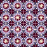 Teste padr?o com formas geom?tricas e elementos florais ilustração stock
