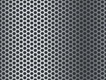 Teste padr?o da textura do metal Placa de aço sem emenda, malha inoxidável Revestimento perfurado de alumínio do mosaico do grung ilustração do vetor