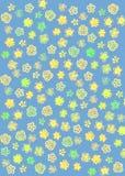 Teste padr?o de flor abstrato imagem de stock