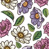 Teste padr?o de flor do vintage ilustração royalty free