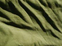 Teste padr?o do fundo da textura C?quis de seda da tela, verde, cinza de campo Drapeje, cortina fotografia de stock royalty free
