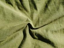 Teste padr?o do fundo da textura C?quis de seda da tela, verde, cinza de campo Drapeje, cortina fotografia de stock