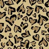 Teste padr?o do leopardo C?pia sem emenda Teste padrão de repetição abstrato - a imitação da pele do leopardo do coração pode ser ilustração stock