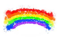 Teste padr?o dos elementos do fundo da m?sica do arco-?ris, cartaz abstrato do neg?cio da qualidade super ilustração royalty free