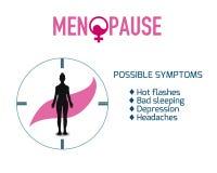 Teste padr?o dos elementos do fundo da menopausa, cartaz abstrato do neg?cio da qualidade super ilustração royalty free