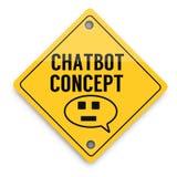 Teste padr?o dos elementos do fundo de Chatbot adiante, cartaz abstrato do neg?cio da qualidade super ilustração stock