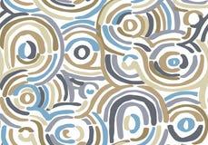 Teste padr?o geom?trico abstrato com linhas onduladas Garatuja backgrounded Fundo sem emenda do vetor ilustração royalty free
