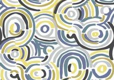 Teste padr?o geom?trico abstrato com linhas onduladas Garatuja backgrounded Fundo sem emenda do vetor ilustração stock