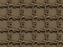 Teste padr?o met?lico bas-relevo de texturas sem emenda, consistindo em v?rios elementos de ornamento arquitet?nicos ilustração stock
