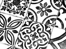 Teste padr?o preto e branco oriental fotos de stock royalty free