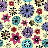 Teste padr?o sem emenda com flores bonitos ilustração do vetor