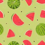 Teste padr?o sem emenda com melancias M?os do desenho ilustração royalty free