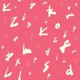 Teste padr?o sem emenda criativo com etiquetas abstratas, letras Desenhado ? m?o para projetos: cartazes, convites, cart?es, etc. ilustração stock