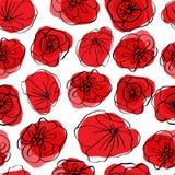 Teste padr?o sem emenda da papoila Papoilas vermelhas no fundo branco Pode ser o uset para a mat?ria t?xtil, os pap?is de parede, ilustração do vetor
