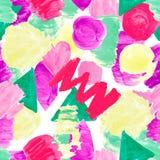 Teste padr?o sem emenda de texturas brilhantes dos pontos da cor no fundo isolado branco Linhas roxo cor-de-rosa dos cursos dos e imagem de stock