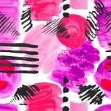 Teste padr?o sem emenda de texturas brilhantes dos pontos da cor no fundo isolado branco Linhas roxo cor-de-rosa dos cursos dos e imagem de stock royalty free
