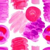 Teste padr?o sem emenda de texturas brilhantes dos pontos da cor no fundo isolado branco Linhas roxo cor-de-rosa dos cursos dos e foto de stock royalty free