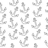 Teste padr?o sem emenda do marinheiro do mar com ?ncora O fundo abstrato da repeti??o, ilustra??o dos desenhos animados pode ser  ilustração stock