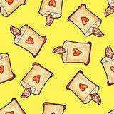 Teste padr?o sem emenda do Natal desenhado ? m?o Vela do Natal com coração contra em um fundo amarelo Ano novo feliz ilustração royalty free