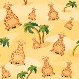 Teste padr?o sem emenda do vetor com girafa Personagem de banda desenhada gordo bonito O conceito do projeto do divertimento para ilustração do vetor