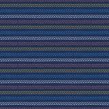 Teste padr?o sem emenda do vetor das listras azuis vermelhas da regata do oceano Linhas tiradas m?o da corda do beira-mar Aqua po ilustração do vetor