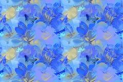 Teste padr?o sem emenda floral com flores e borboleta do jardim fotos de stock