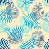 Teste padr?o sem emenda na moda com folhas tropicais ilustração royalty free