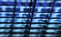 Teste padrão abstrato azul Fotos de Stock