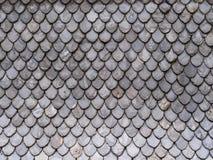 Teste padrão abstrato das telhas de telhado Fotografia de Stock
