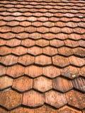 Teste padrão abstrato das telhas de telhado Fotos de Stock