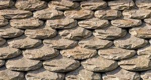 Teste padrão abstrato das telhas de telhado Fotos de Stock Royalty Free
