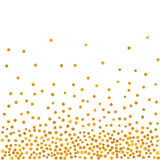 Teste padrão abstrato de pontos dourados de queda aleatórios Foto de Stock Royalty Free
