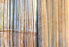 Teste padrão abstrato do fundo do estilo de bambu do material da parede Foto de Stock Royalty Free