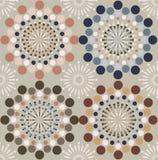 Teste padrão abstrato dos círculos Foto de Stock Royalty Free