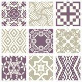 Teste padrão abstrato sem emenda violeta pastel elegante 32 do vintage clássico Imagem de Stock