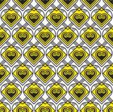 Teste padrão amarelo e preto do vetor Imagem de Stock Royalty Free