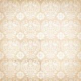 Teste padrão antigo popular do damasco do vintage com pássaro Imagem de Stock Royalty Free