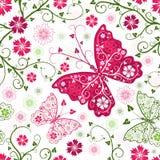 Teste padrão branco floral sem emenda Foto de Stock Royalty Free