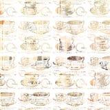 Teste padrão chique gasto da xícara de chá Foto de Stock Royalty Free